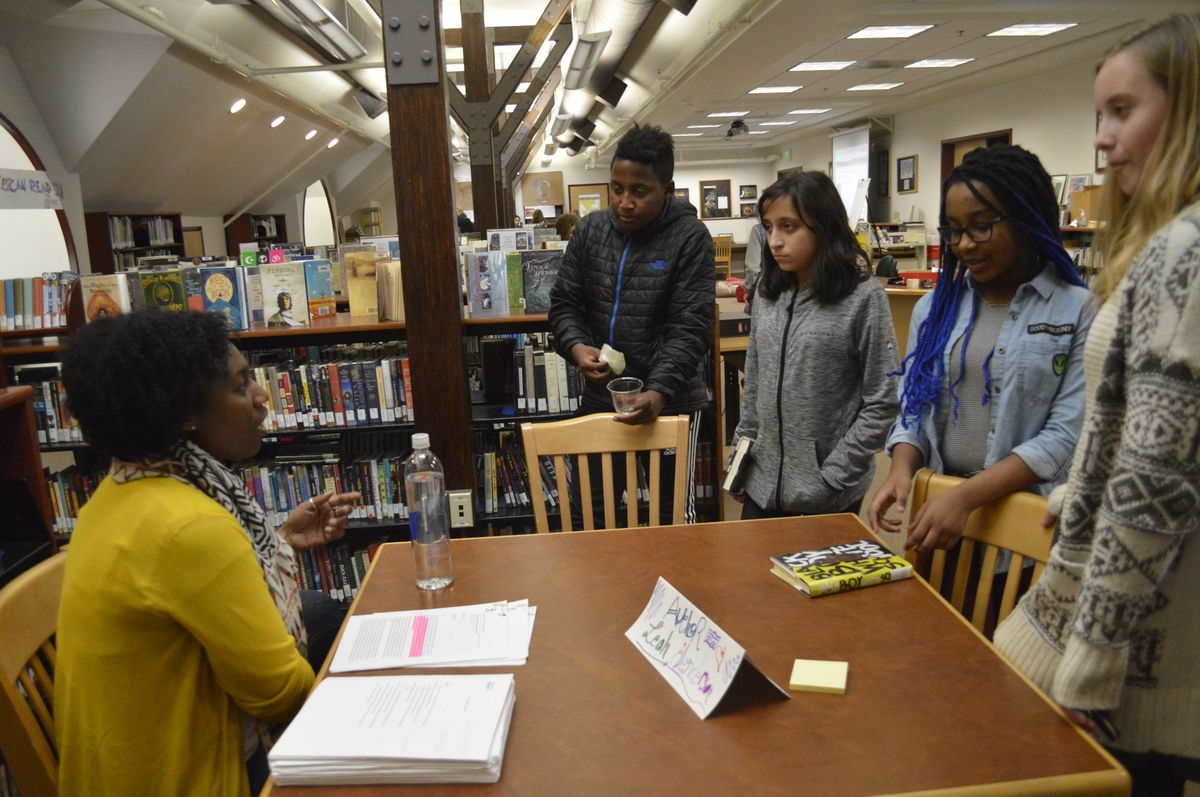 Middle Schoolers Participate in Third Annual African-American Read-In
