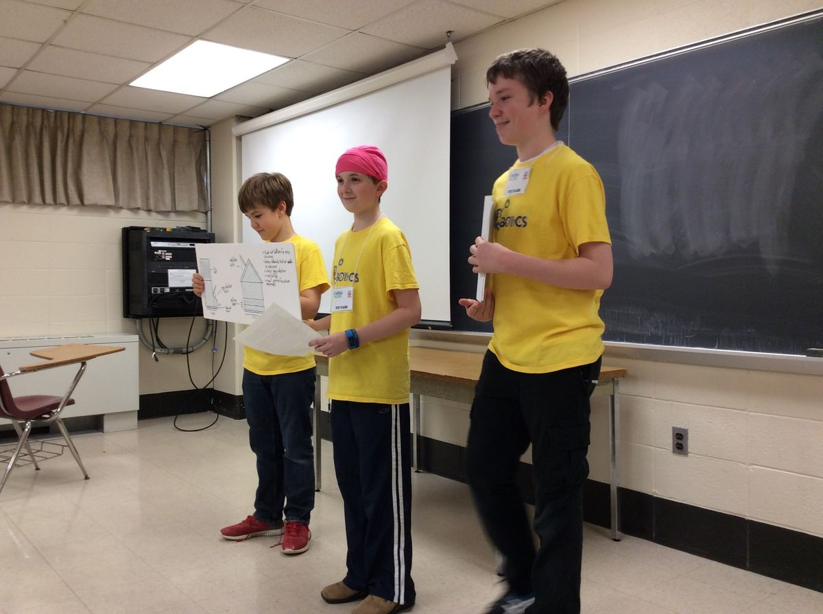 Middle School Robotics Represents at MD State Competition