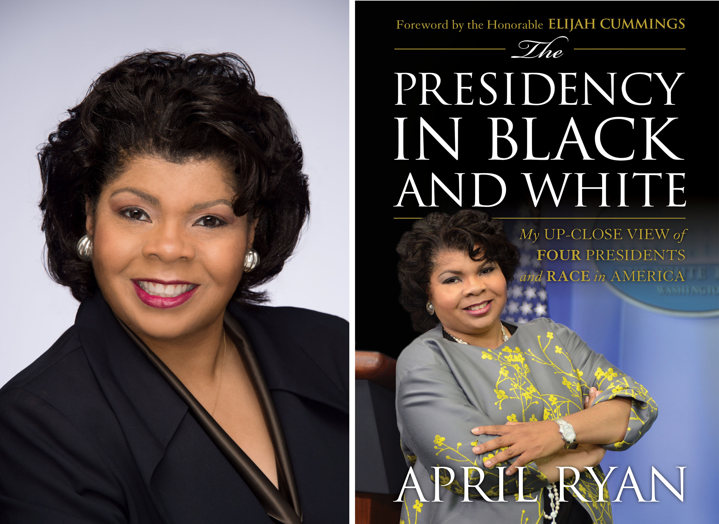 april ryan next to her book