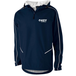 navy colored quarter zip sweatshirt