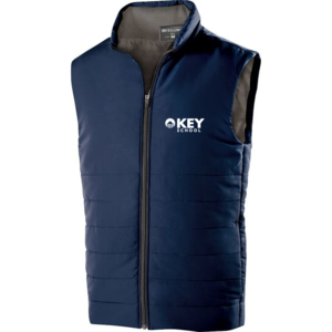 navy vest with Key logo