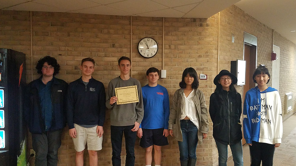 Math Team Ranked 2nd in County