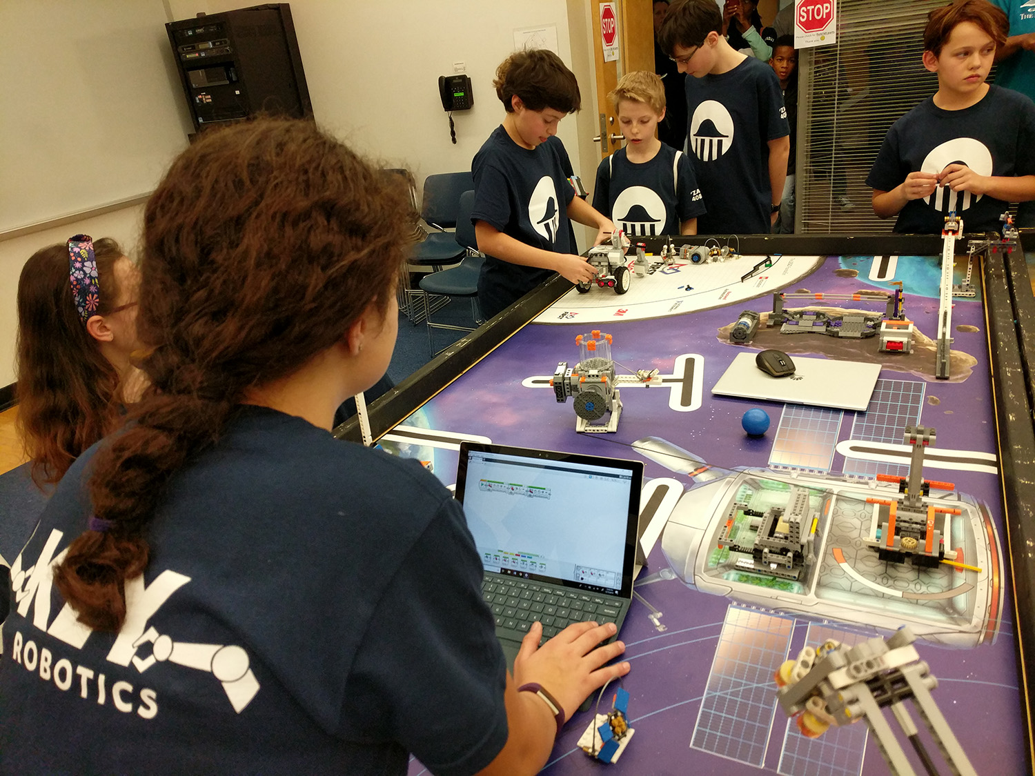 Middle School Robotics Team Takes on FIRST Lego League Tournament