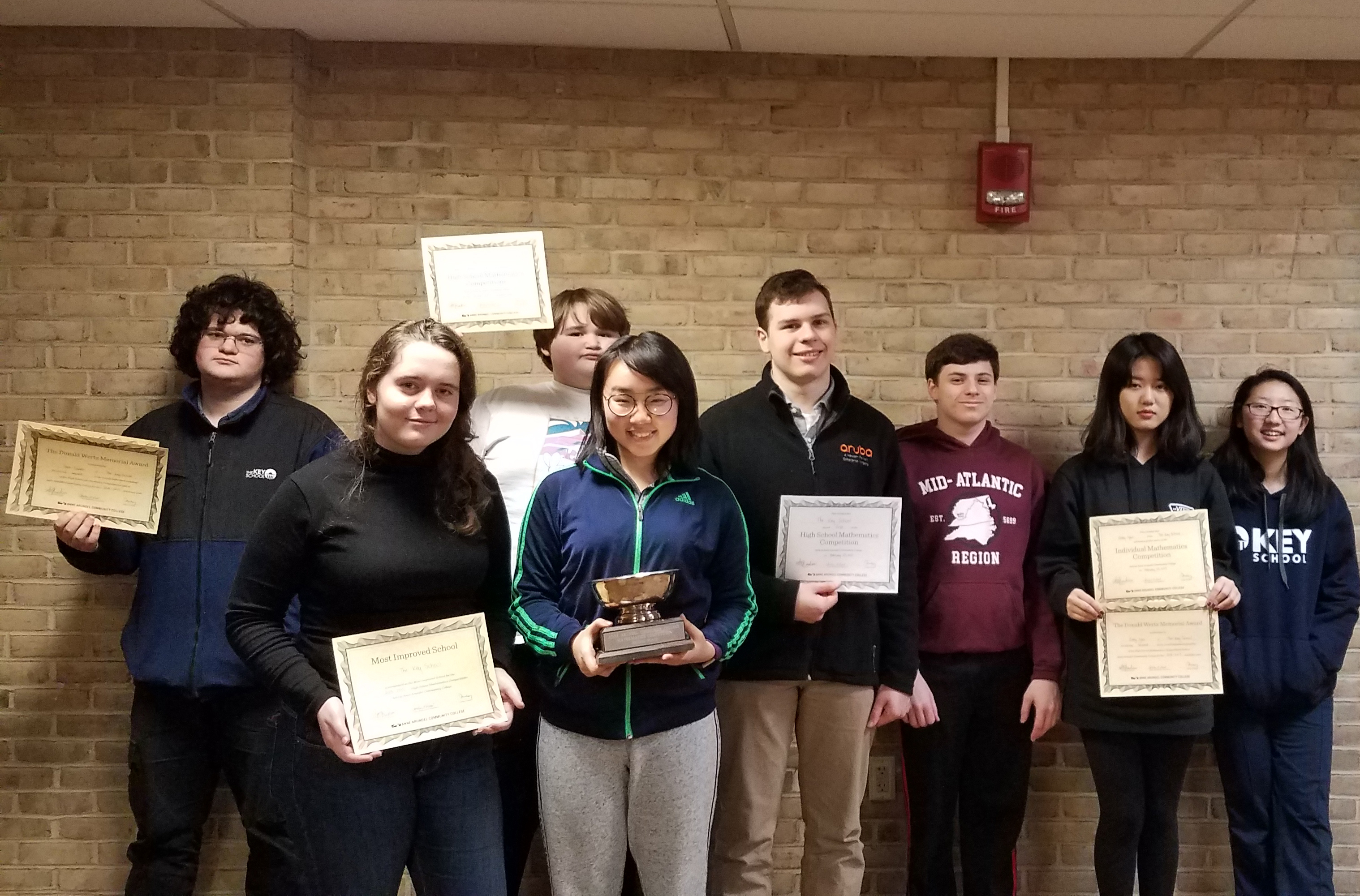 Upper School Math Team Wins Accolades